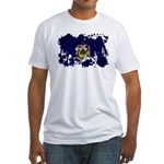 Maine Flag Fitted T-Shirt