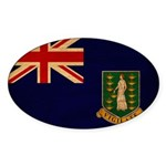 British Virgin Islands Flag Sticker (Oval 10 pk)