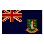 British Virgin Islands Flag Sticker (Rectangle)