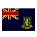 British Virgin Islands Flag Postcards (Package of