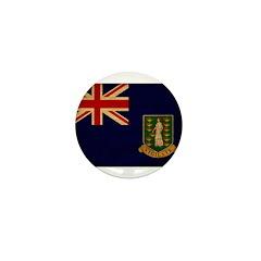 British Virgin Islands Flag Mini Button (100 pack)