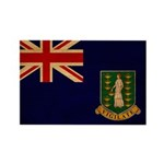 British Virgin Islands Flag Rectangle Magnet (10 p