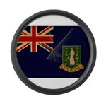 British Virgin Islands Flag Large Wall Clock