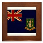British Virgin Islands Flag Framed Tile
