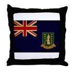 British Virgin Islands Flag Throw Pillow