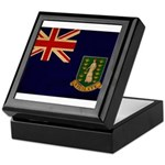 British Virgin Islands Flag Keepsake Box