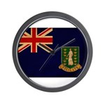 British Virgin Islands Flag Wall Clock