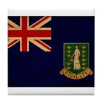 British Virgin Islands Flag Tile Coaster