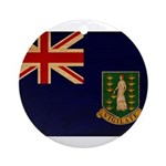 British Virgin Islands Flag Ornament (Round)