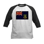 British Virgin Islands Flag Kids Baseball Jersey
