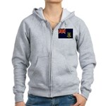 British Virgin Islands Flag Women's Zip Hoodie