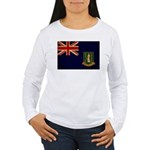 British Virgin Islands Flag Women's Long Sleeve T-
