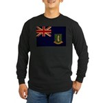 British Virgin Islands Flag Long Sleeve Dark T-Shi