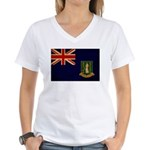British Virgin Islands Flag Women's V-Neck T-Shirt