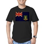 British Virgin Islands Flag Men's Fitted T-Shirt (