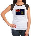 British Virgin Islands Flag Women's Cap Sleeve T-S