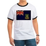 British Virgin Islands Flag Ringer T