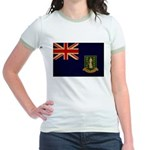 British Virgin Islands Flag Jr. Ringer T-Shirt