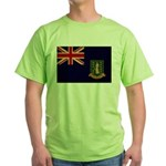 British Virgin Islands Flag Green T-Shirt