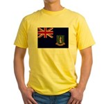 British Virgin Islands Flag Yellow T-Shirt