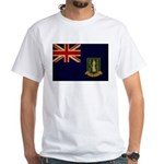 British Virgin Islands Flag White T-Shirt