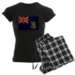 British Virgin Islands Flag Women's Dark Pajamas