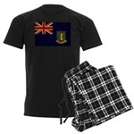 British Virgin Islands Flag Men's Dark Pajamas