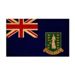British Virgin Islands Flag 38.5 x 24.5 Wall Peel