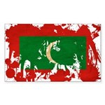 Maldives Flag Sticker (Rectangle 50 pk)