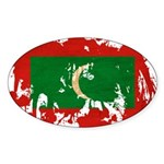 Maldives Flag Sticker (Oval)