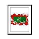 Maldives Flag Framed Panel Print