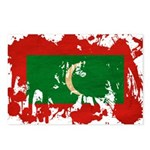 Maldives Flag Postcards (Package of 8)