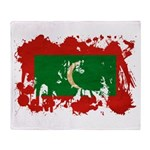 Maldives Flag Throw Blanket