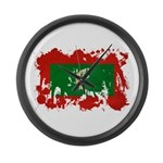 Maldives Flag Large Wall Clock
