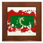 Maldives Flag Framed Tile