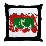 Maldives Flag Throw Pillow