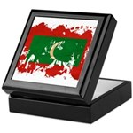 Maldives Flag Keepsake Box
