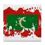 Maldives Flag Tile Coaster