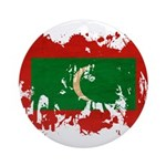 Maldives Flag Ornament (Round)