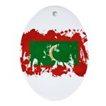 Maldives Flag Ornament (Oval)