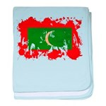 Maldives Flag baby blanket