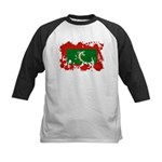 Maldives Flag Kids Baseball Jersey