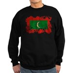 Maldives Flag Sweatshirt (dark)