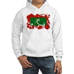 Maldives Flag Hooded Sweatshirt