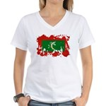 Maldives Flag Women's V-Neck T-Shirt