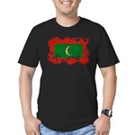 Maldives Flag Men's Fitted T-Shirt (dark)