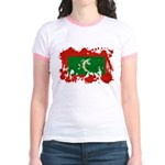 Maldives Flag Jr. Ringer T-Shirt