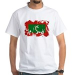 Maldives Flag White T-Shirt
