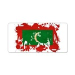 Maldives Flag Aluminum License Plate