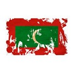 Maldives Flag 38.5 x 24.5 Wall Peel
